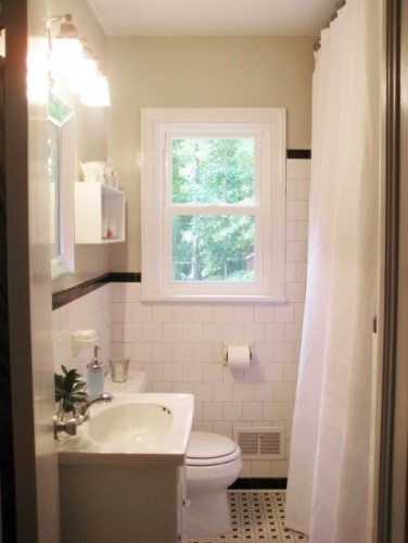 1000 ideas about long shower curtains on pinterest for Extra small bathroom ideas