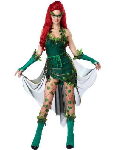 Poison-Ivy-Gruen-Batman-Superheld-Karneval-Fasching-Kostuem-Damen