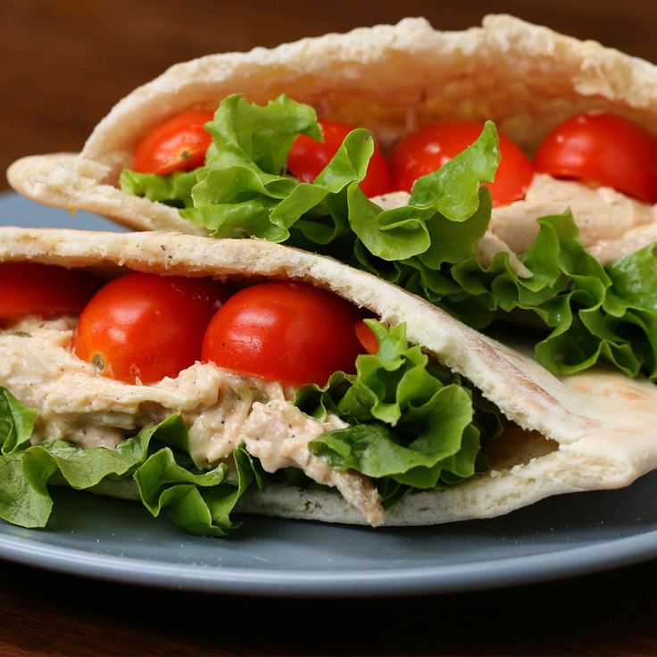 Healthy Meal-Prep Chicken Salad Pockets- Don't even need the Pita