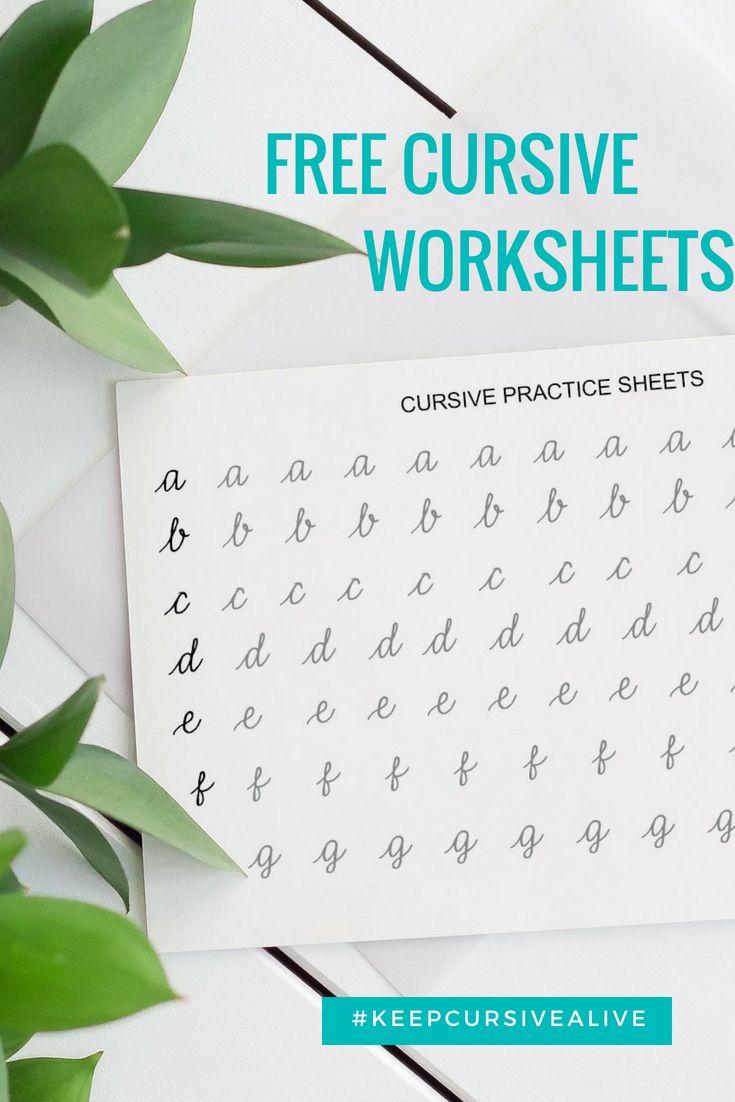 The Handwriting Studio Free Cursive Worksheets Cursive Worksheets Cursive Practice Sheets Free Cursive Worksheets [ 1102 x 735 Pixel ]