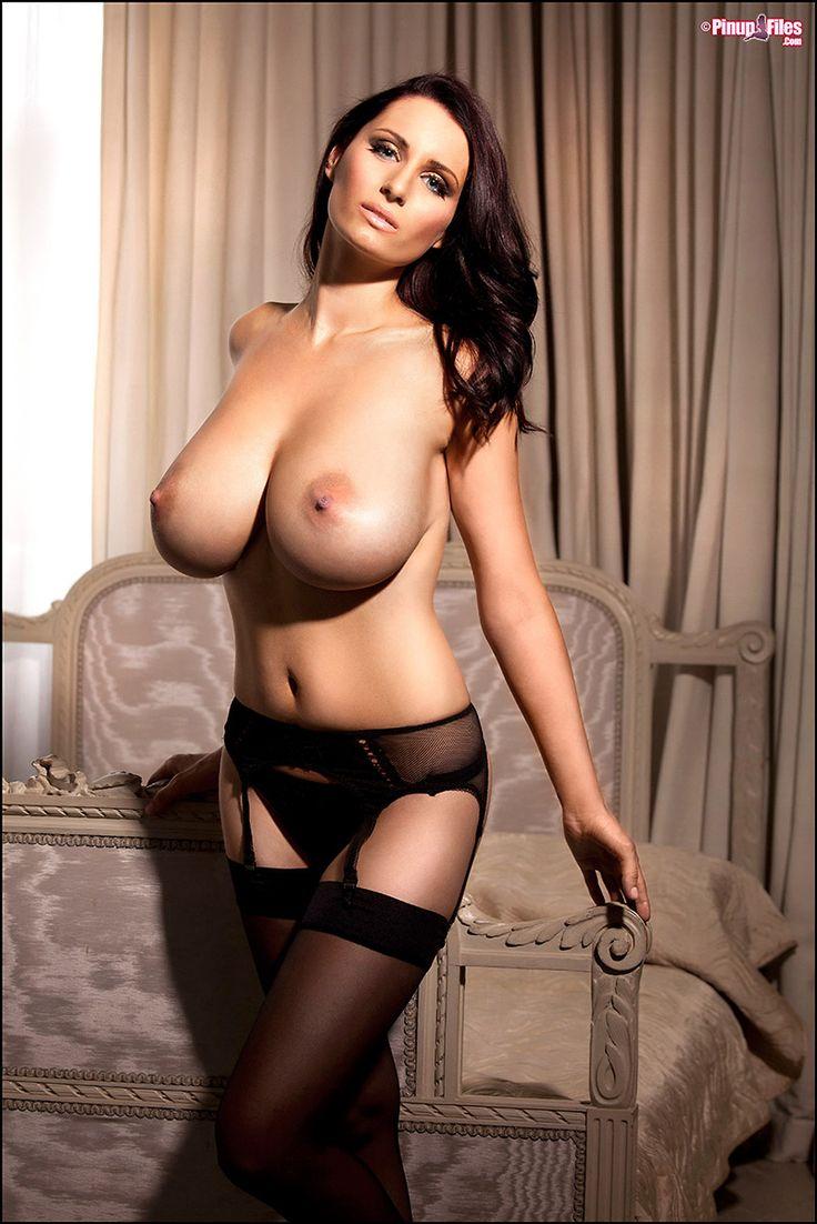 image Busty brunette beauty webcam stripping