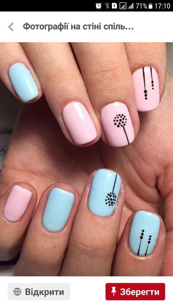 DIY Spring Nail Designs für kurze Nägel – DIY Niedlichkeit – Nail Designs – Nail Art – Nagel Design