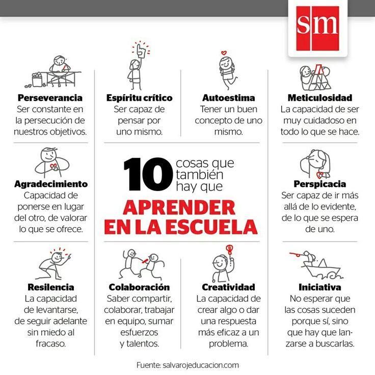10 cosas que aprender en la escuela