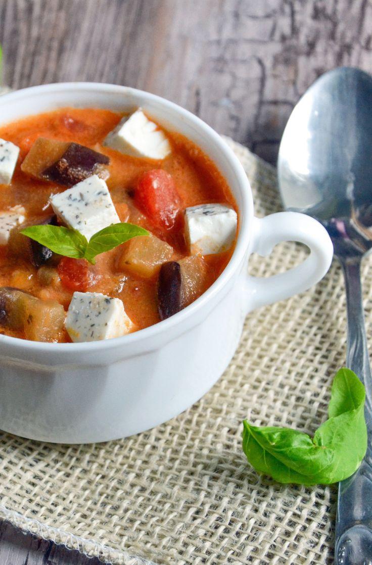 http://sokzycia.pl/zupa-baklazanowa/ #zupa #soip #baklazan #eggplanet #penautbutter #masloorzechowe #nuts #feta #pomidory #tomatoes #vegetarian #vegetarianfood #vegefood #jemzdrowo #sportowejedzenie #sportfood #aftergym #sokzycia #foodporn #glutenfree