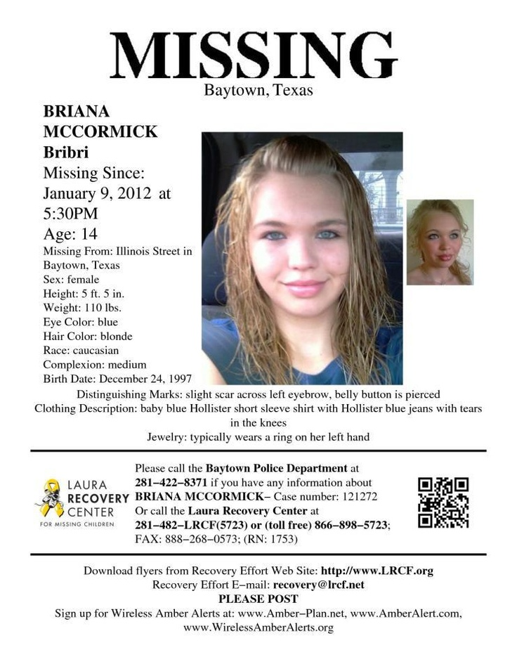 Kayla Berg 1\/3\/2012 Todays Missing Person is Kayla Berg who - missing child poster template