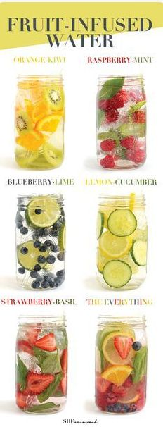 Make Your Fruit-Infused water Get in your daily water quota with this Fruit-Infused Water – 6 ways! From berries, to citrus, to cucumber and herbs, we've got you covered for refreshing drink recipes all summer long! naturallyhealthyp...