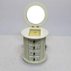 Döner Beyaz Aynalı Takı Kutusu