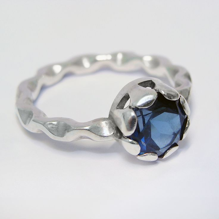 London blue Topaz and Silver ring by Zalisander, from the new 'Cadence' collection to be released for the first time at BCTF 15!