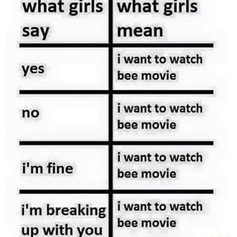 "But what if they say ""I don't want to watch Bee Movie"""