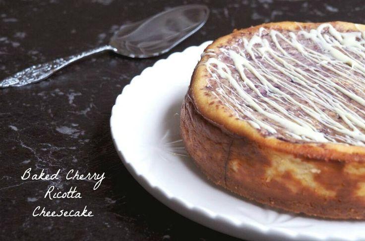Baked Cherry Ricotta Cheesecake