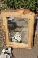 ANCIENT BRISTLECONE PINE Rustic wall mirror Log lodge furniture wood art., rare