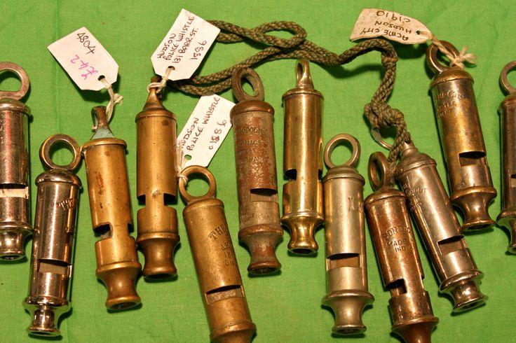 Police Whistles late XIX Century