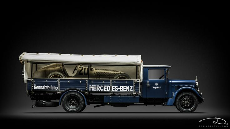 Mercedes-Benz Lo2750 + Mercedes-Benz W25 Dirty Hero, both models made by CMC in 1:18th scale.