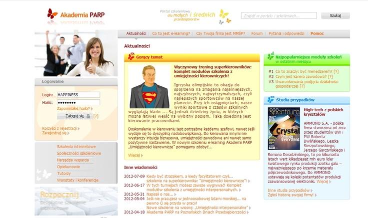 świetna platforma e-lerningowa dla małych i średnich firm.  http://www.akademiaparp.gov.pl/