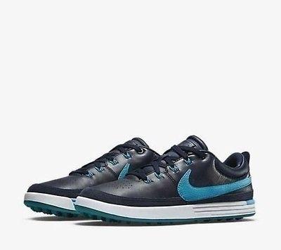 NEW NIKE LUNAR WAVERLY GOLF SHOES MEDIUM OBSIDIAN/BLUE 652780-400 SZ 10 #Sporting Goods:Golf:Golf Clothing, Shoes & Accs:Other Golf Clothing #socialmatic05 $75.00