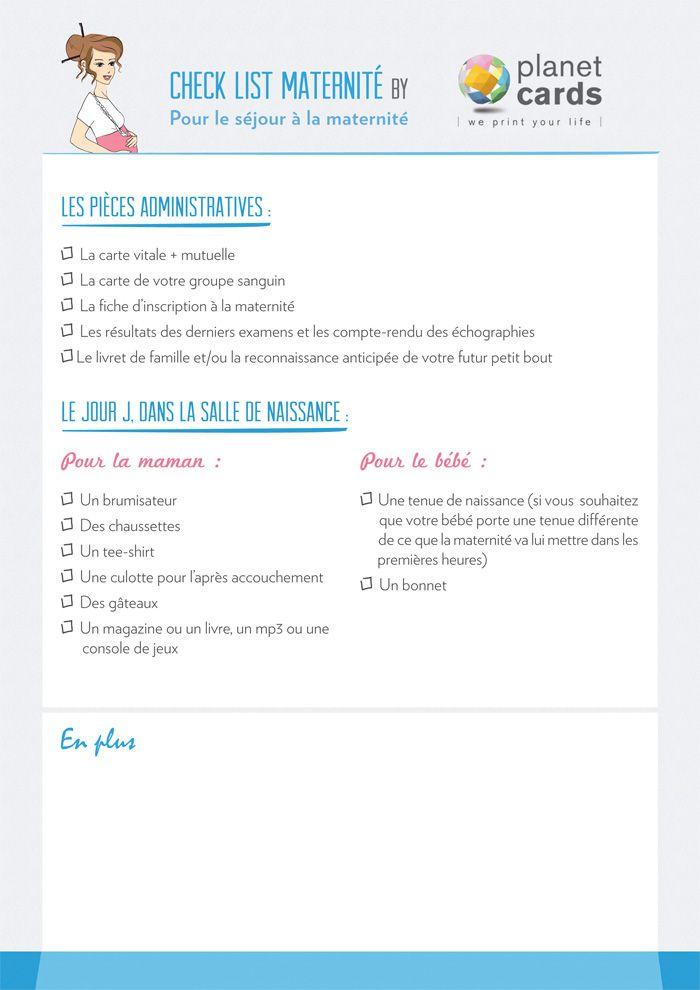 Check-list maternité - partie 1 - Planet-cards, le blog do it yourself