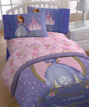 Look what I found on #zulily! Sofia the First 'Princess in Training' Sheet Set by Sofia the First #zulilyfinds