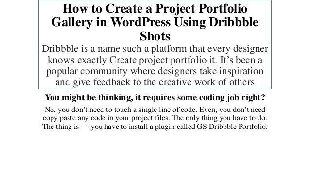 Create a Project Portfolio Gallery in WordPress Using Dribbble Shots
