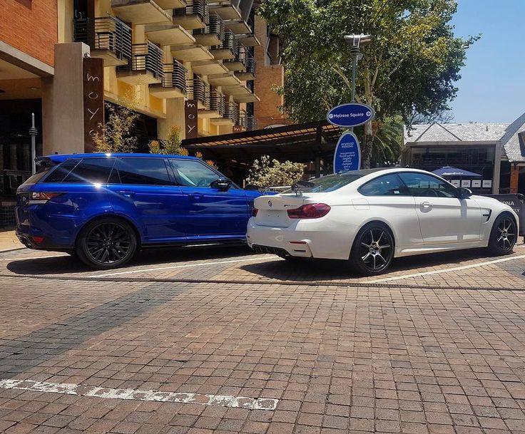 SVR or GTS?  Photo via @littlejohnwhittle  #ExoticSpotSA #Zero2Turbo #SouthAfrica #BMW #M4GTS #RangeRoverSport #SVR