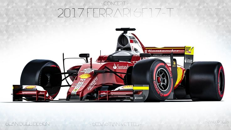 Big thanks to the original designer - SEAN BULL DESIGN - https://twitter.com/seanbulldesign  https://twitter.com/nancorocks  Offering first glimpse of the F1 2017 cars =)  Concept livery for the 2017 Ferrari SF17-T - Sebastian Vettel -  ALL the credit for the model goes to turbosquid. I did the livery/mats/scene/rendering/post work. Love it or hate it, choice is yours.  3ds Max + Vray+ Photoshop + Lightroom.