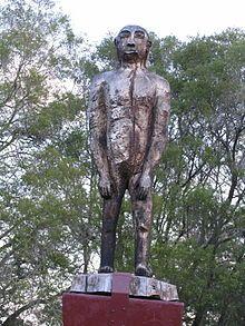 Statue of a Yowie in Kilcoy, Queensland, Australia.