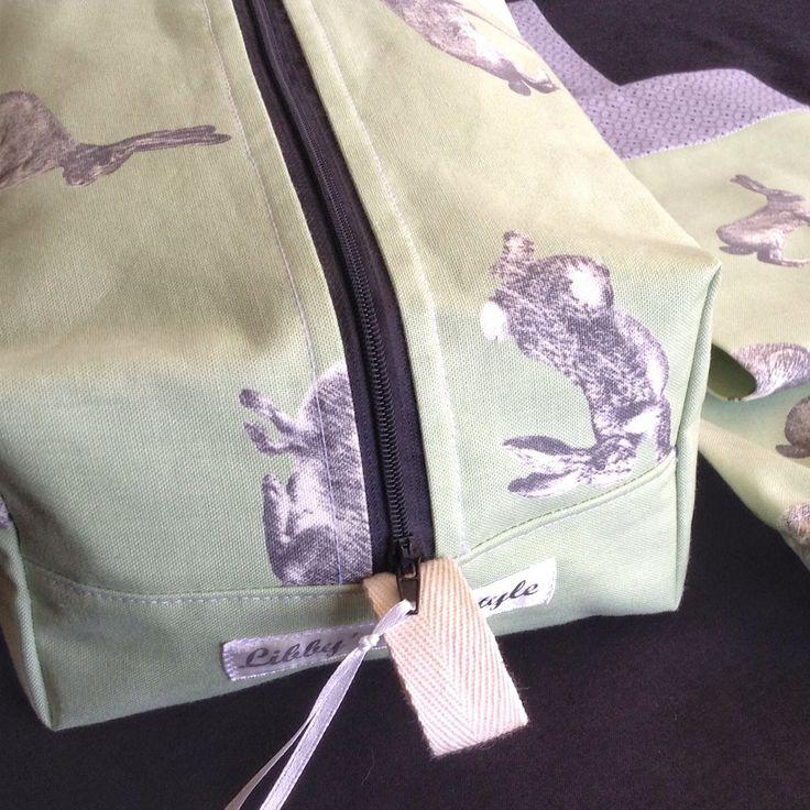 Hopping bunnies toiletry bag Custom Order.