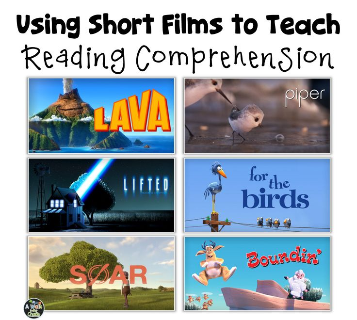 I love using short films to teach reading comprehension skills, and my students love watching them!      Why do I love using them?  Show a s...