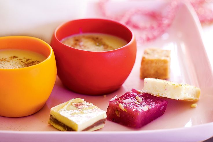 Indian. Chai whith Indian sweets.  Create an authentic atmosphere by serving this spicy chai with traditional Indian sweets.