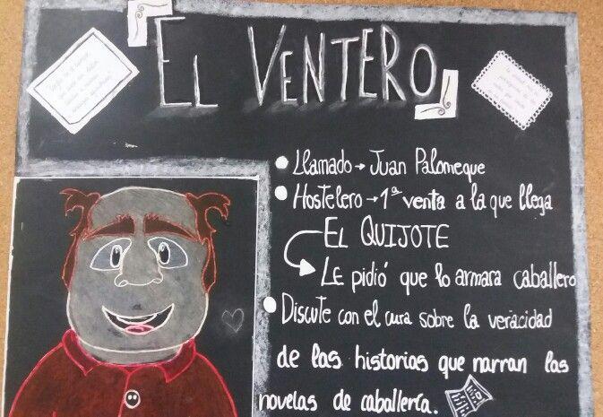 """La descripción. Personajes de """"Don Quijote de La Mancha"""". El ventero. 3.°ESO"""