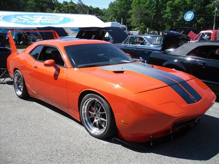 """Dodge Challenger Conversion >> Randy's Dodge Challenger SRT8 is equipped with the """"Richard Petty Superbird"""" kit, including ..."""