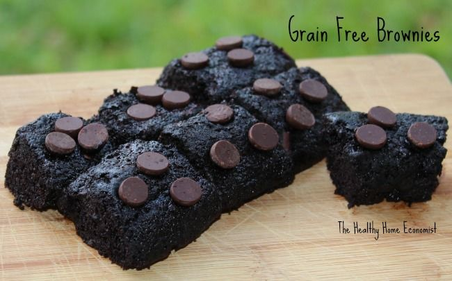 Grain free brownies made with the nut butter of your choice.  http://www.thehealthyhomeeconomist.com/nut-butter-grain-free-brownies/