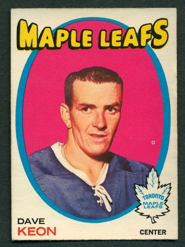 1971 72 Topps 80 DAVE KEON EX-NM TORONTO MAPLE LEAFS FREE SHIP #TorontoMapleLeafs