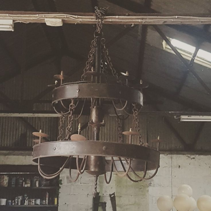 Large Chandelier - #chandelier #lights #castiron #salvage #antiques #rare #chandeliers #kilkennysalvage #kilkennyarchitecturalsalvage #kilkenny #ireland #eire #hotel #building #construction #interiordesign #decoration #homerenovation #homedecoration #homedecor #hallway