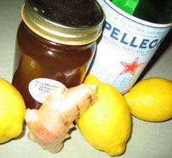 Homemade ginger ale! - Minus the high fructose corn syrup that worries so many people. Great for the upset tummy!