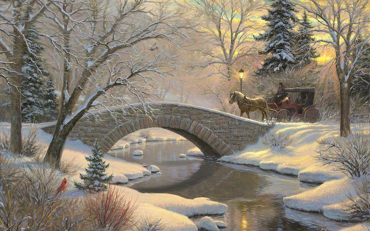Résultat d'images pour Belles peintures de Paris en hiver