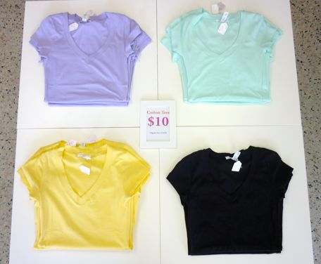 Fitted Cotton Tees Now $10!  http://ecloset.ca/search?q=Cotton+tee