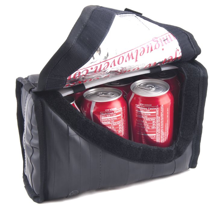 Cruiser Cooler Recycled Bike Tube Handlebar Bag On Ethical