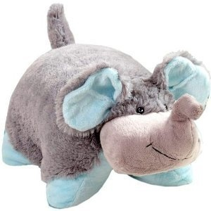 Squishy and soft elephant Pillow Pet, one can not have enough pillow pets roo <3
