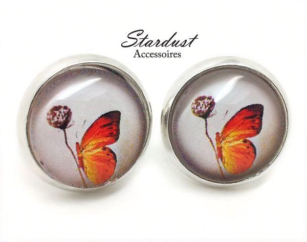 Ohrstecker silber ✿ kleiner Schmetterling ✿ von Stardust Accessoires auf DaWanda.com