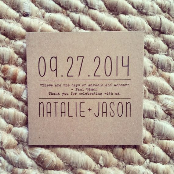 Custom Kraft CD Sleeves CD Wedding Favors Kraft by BrossieBelle