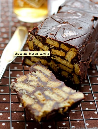 Chocolate biscuit fridge cake