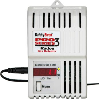 Safety Siren Pro Series3 Radon Gas Detector from Sylvane - Better Air Begins with Knowledge