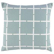 Grey Grid Printed Cushion - 45cm