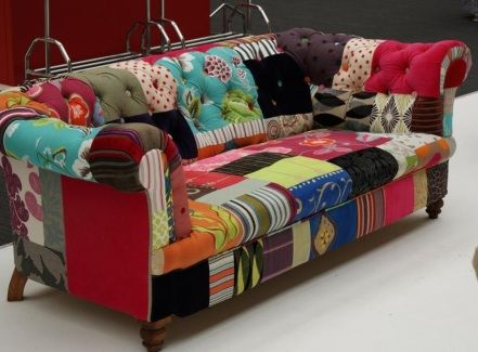 Call me crazy, but I love this patchwork sofa!! Hobby lobby had one similar that I dreamed of having
