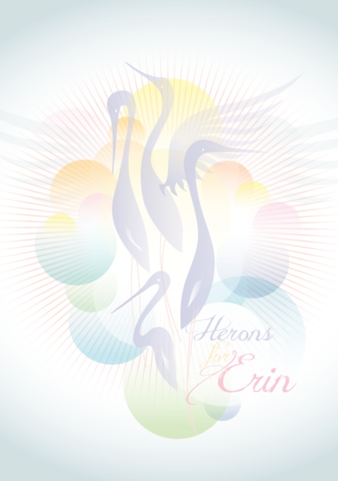 Herons for Erin. This is a poster I designed for my little girl. Love, Mummy!