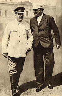 Georgi Dimitrov - Joseph Stalin and Georgi Dimitrov, Moscow, 1936