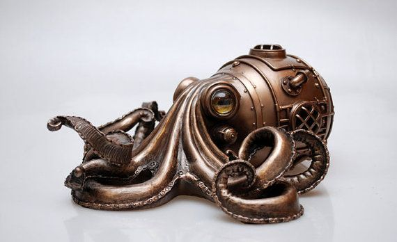 Hey, I found this really awesome Etsy listing at https://www.etsy.com/listing/288017287/steampunk-octopus