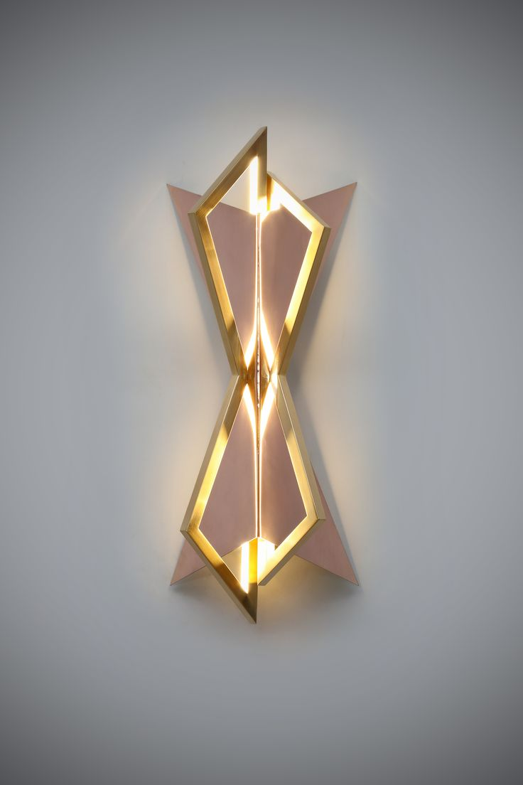 Our 24ct Cassir Wall Light. Bronze, 24ct Gold and Rose Gold