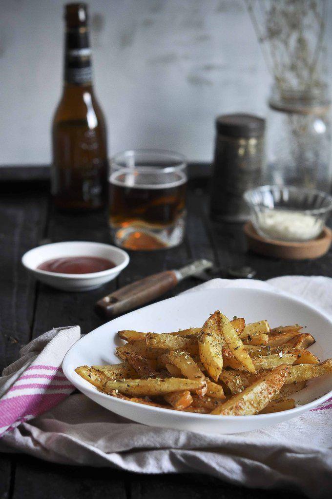 Receta de patatas al horno, Patatas fritas a la cerveza, Cerveza Cruzcampo Gran Reserva, Recetas originales, Patatas para carne