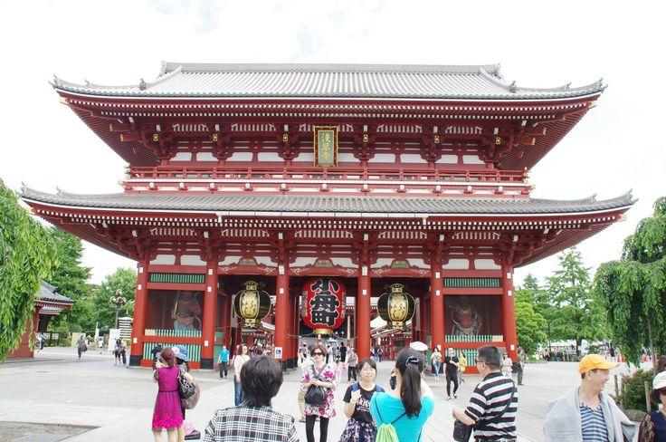 2015 Tokyo Asakusa senso temple kaminarimon 浅草浅草寺・雷門